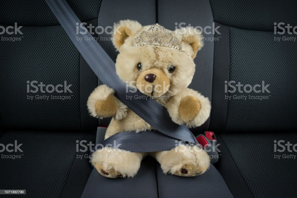 Concept - child safety in a car.