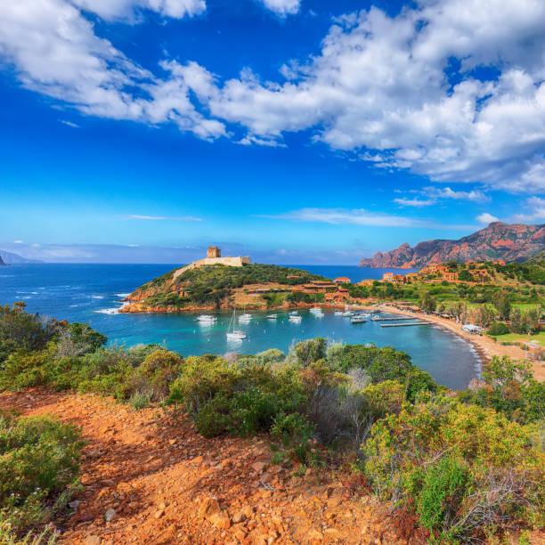 Girolata bay in natural reserve of Scandola stock photo