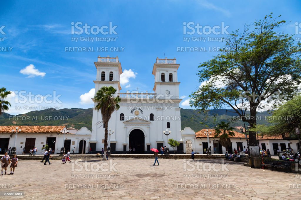 Giron Church stock photo