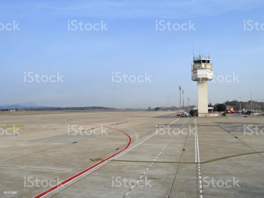 Girona Airport royalty-free stock photo