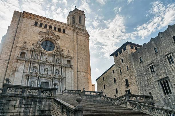 girona (catalunya, spain), cathedral - katedral bildbanksfoton och bilder