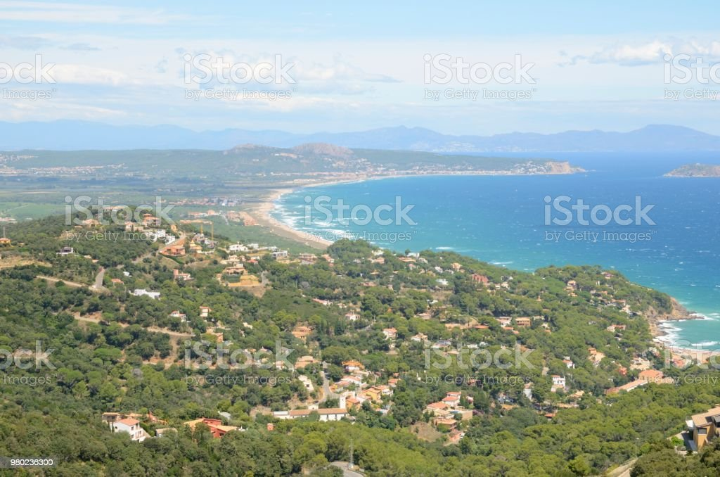 Girona la costa de Begur - foto de stock