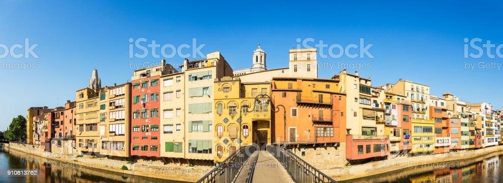 Girona panorama view stock photo