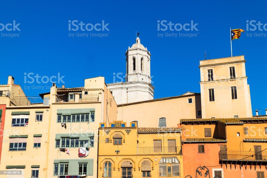 Girona view stock photo
