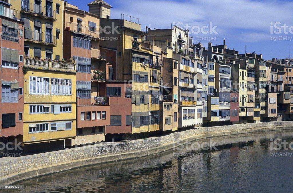 Girona Waterfront royalty-free stock photo