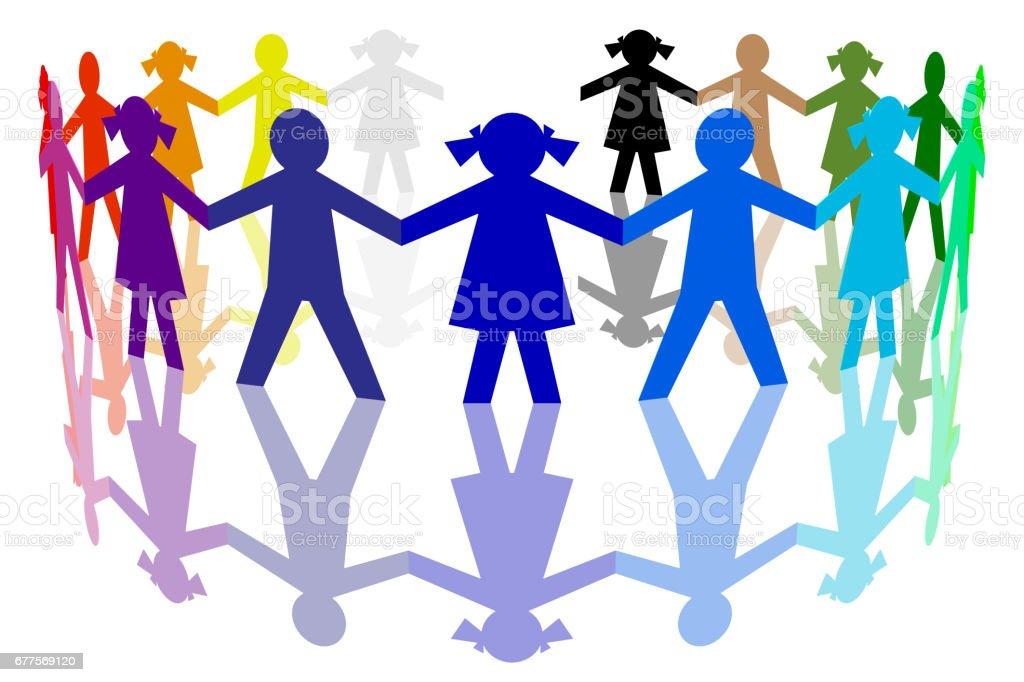 Girotondo di bambini colorato - Photo