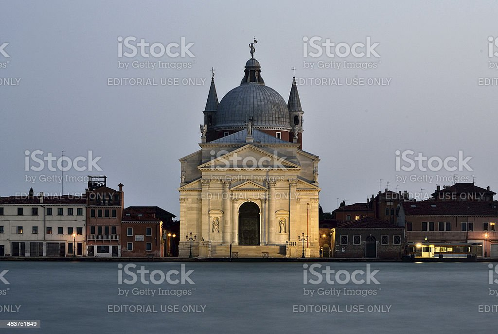 Giudecca skyline with Palladian architecture stock photo