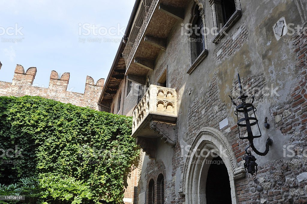 Giulietta balcony of Verona Italy royalty-free stock photo