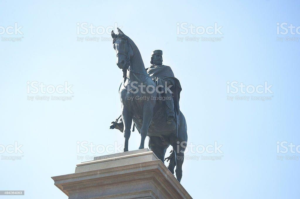 Giuseppe Garibaldi monument royalty-free stock photo
