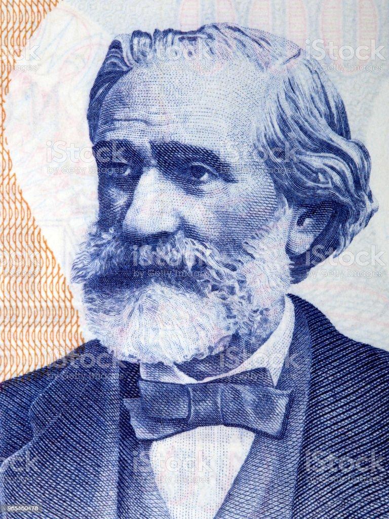 Giuseppe Verdi portrait zbiór zdjęć royalty-free