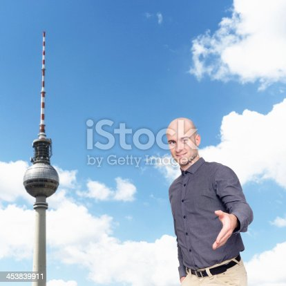 580112984 istock photo Give a greetings on berlin 453839911