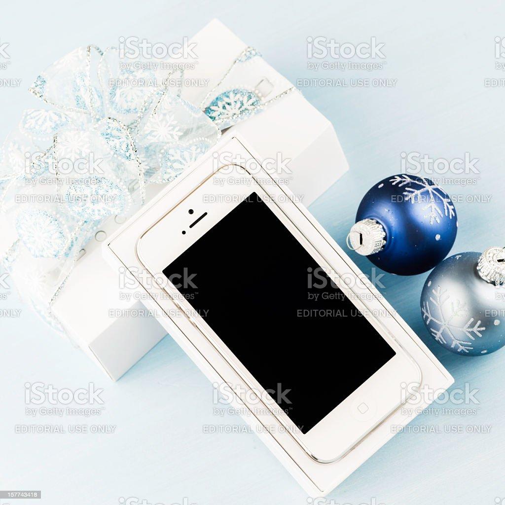 Immagini Di Natale Per Iphone 5.Fornire Un Iphone 5 Per Natale Fotografie Stock E Altre Immagini