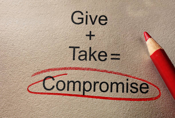 Give and Take Compromise stock photo