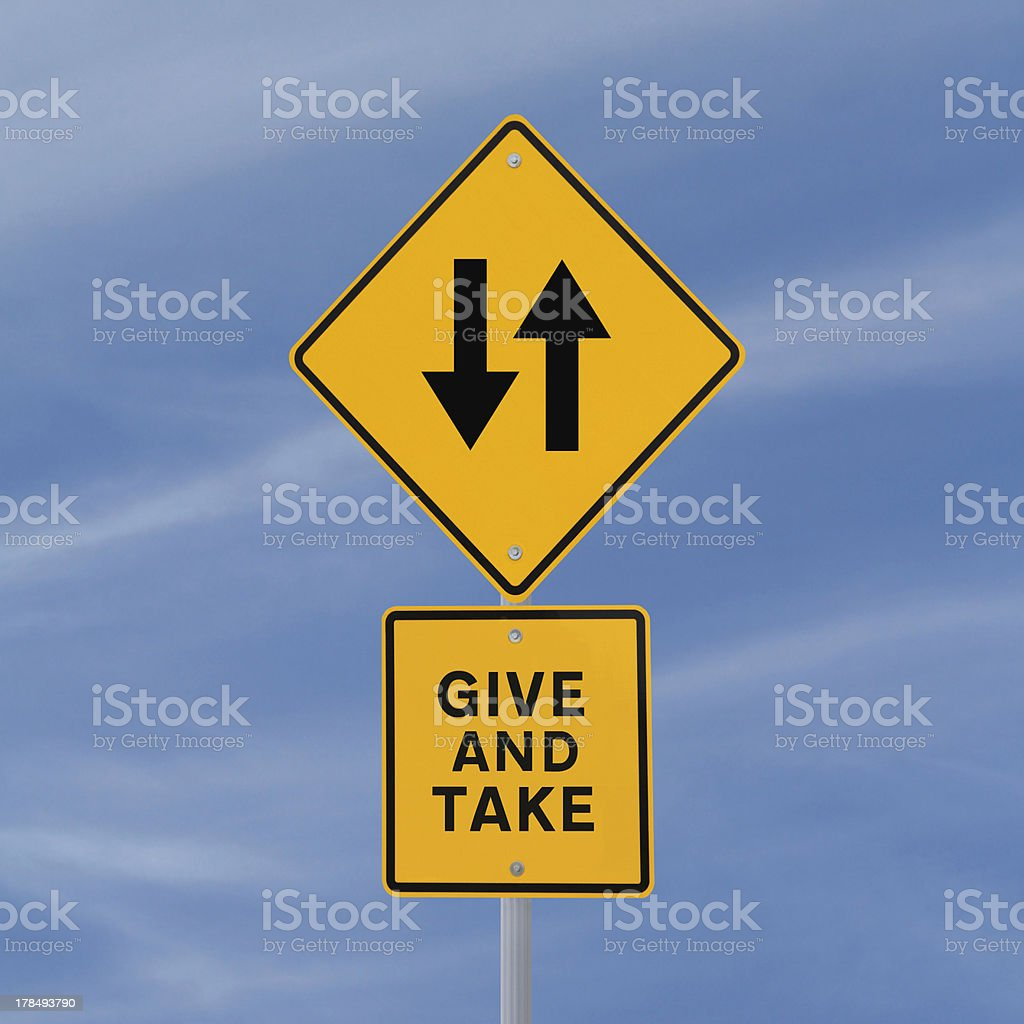 Give And Take royalty-free stock photo