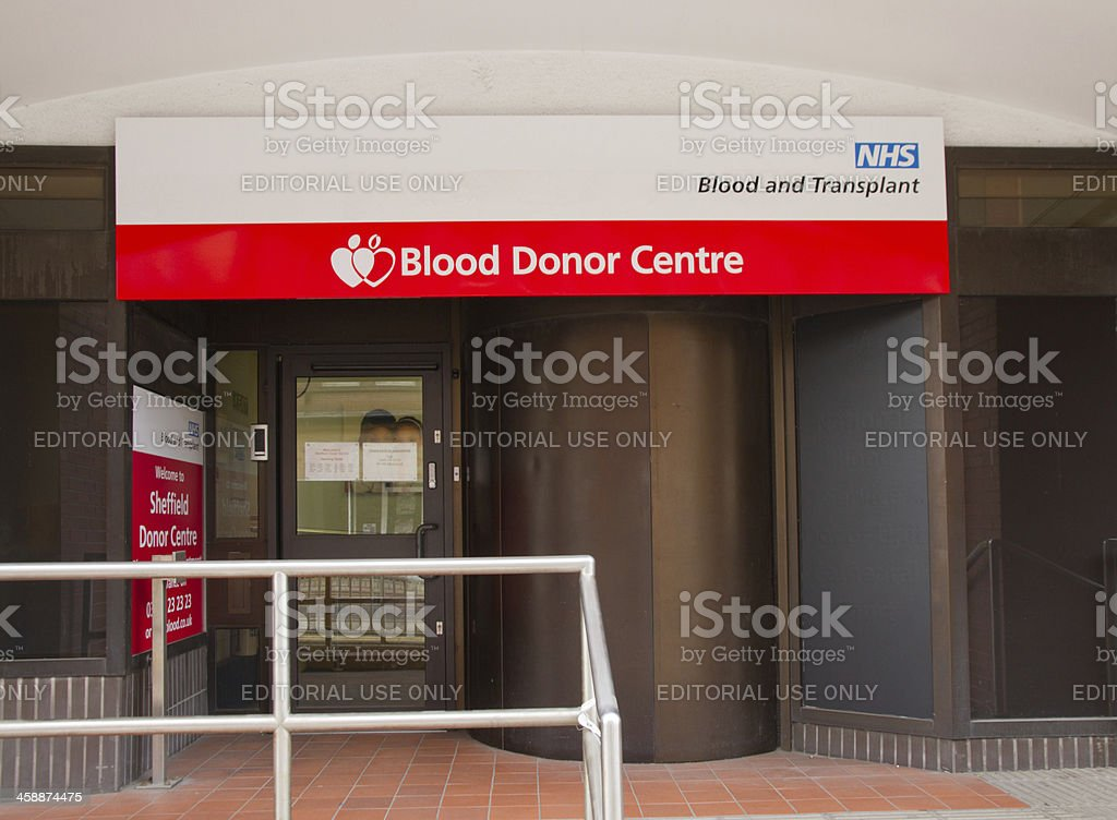 Give Blood royalty-free stock photo