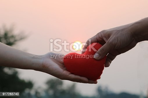 istock Give love and good relationships with heart 917283740