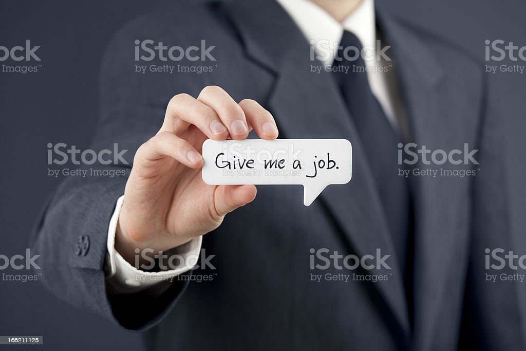 Give me a job royalty-free stock photo