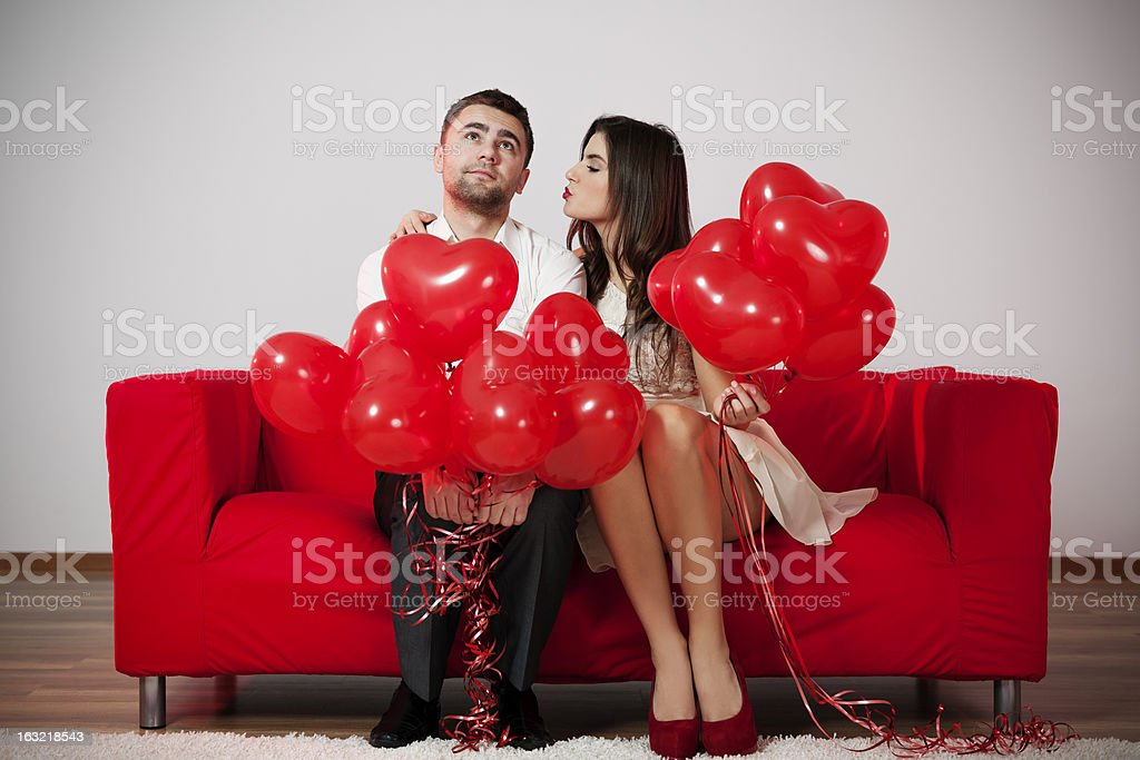 Give me a kiss! stock photo