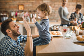 istock Give me high-five son! 1061300464