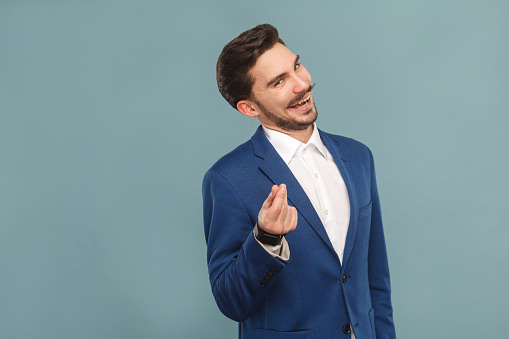 istock Give me money. Foxy businessman toothy smiling 952000428