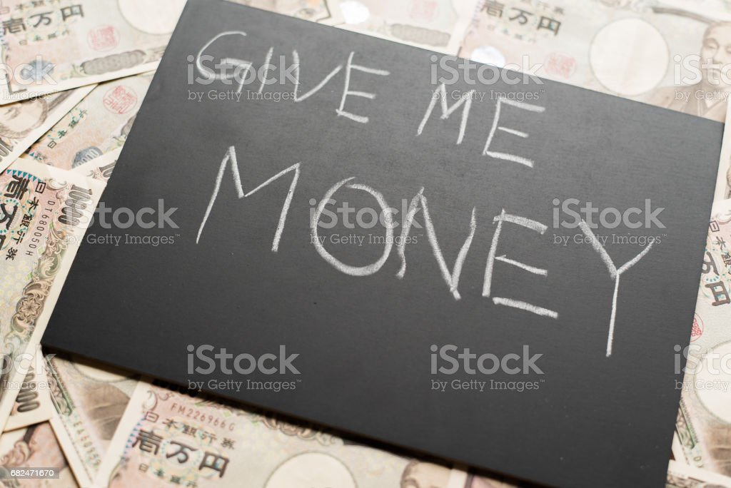 Give me money royalty-free stock photo