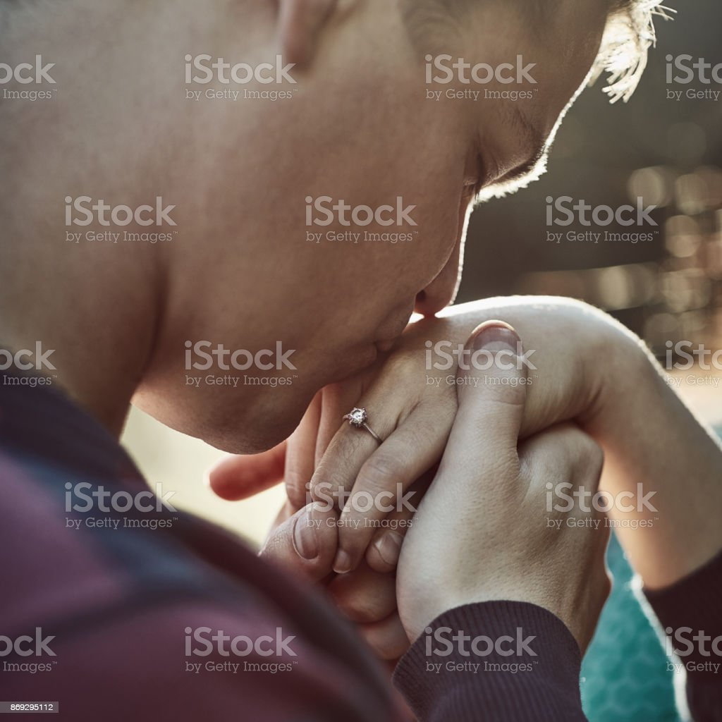 Give me your hand and I'll never let go stock photo