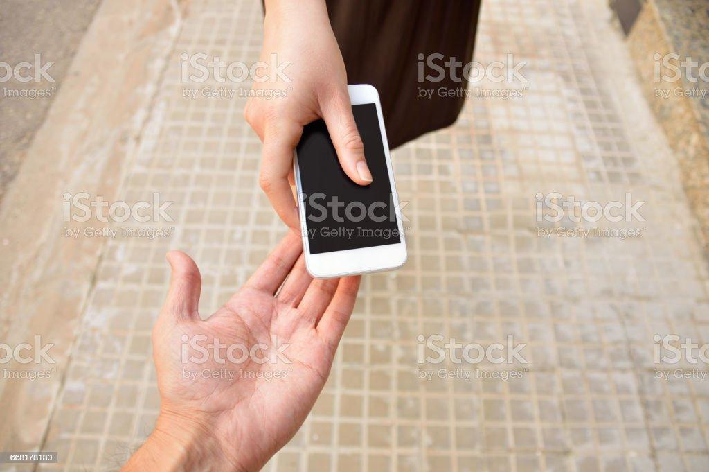 Geben Sie mir Ihre Telefonnummer - Lizenzfrei Arm - Anatomiebegriff Stock-Foto