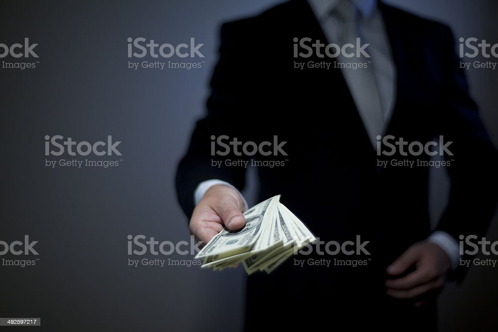 Give money stock photo