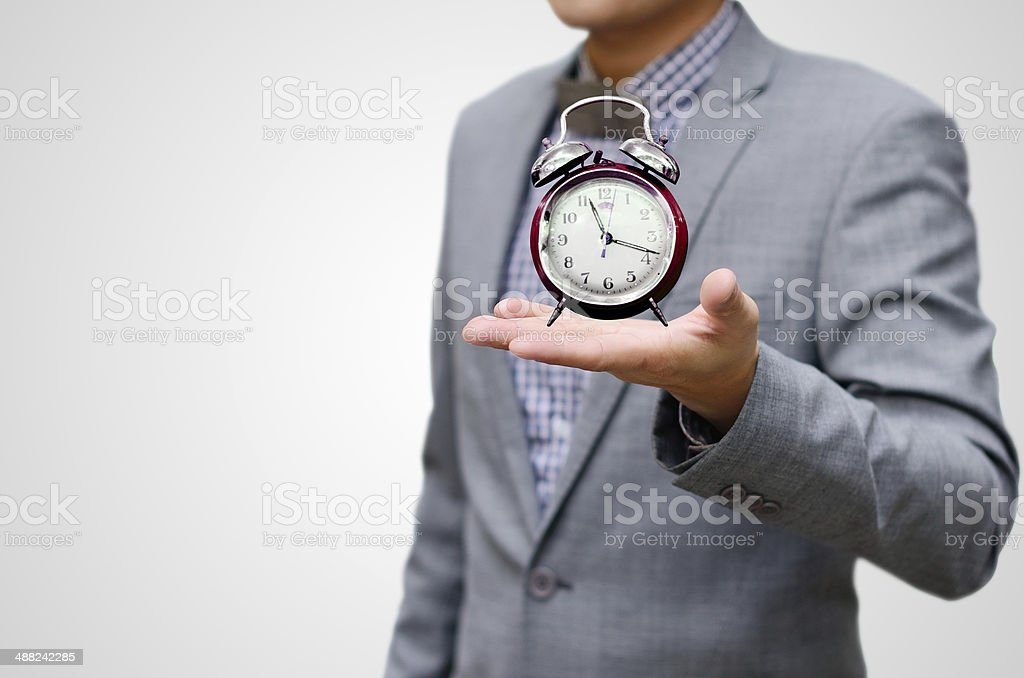 Give more time concpet stock photo