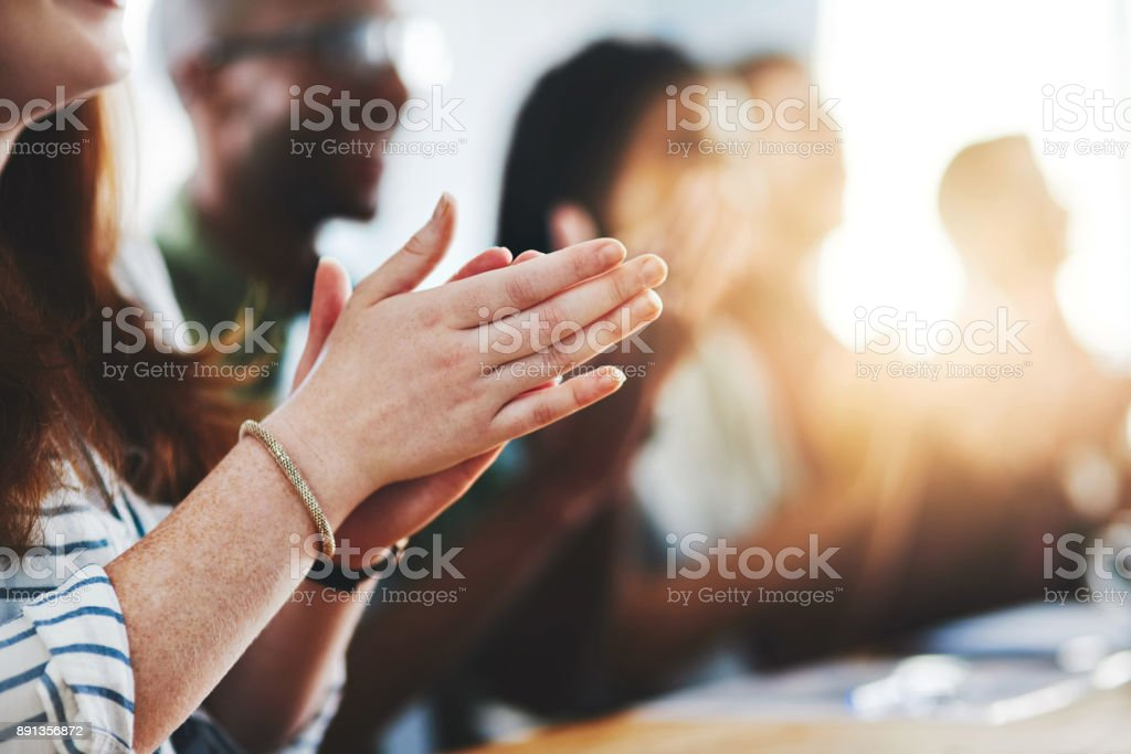 Give recognition for every success stock photo