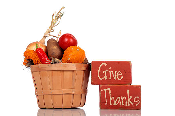 Give Thanks - Thanksgiving Fall Theme stock photo