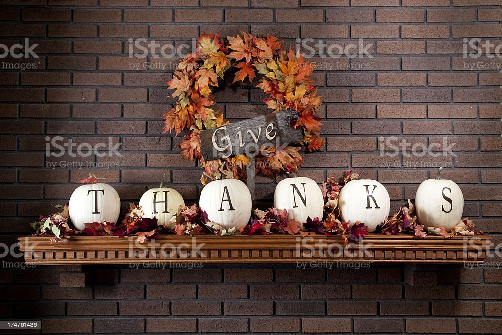 Give Thanks - Thanksgiving Theme royalty-free stock photo