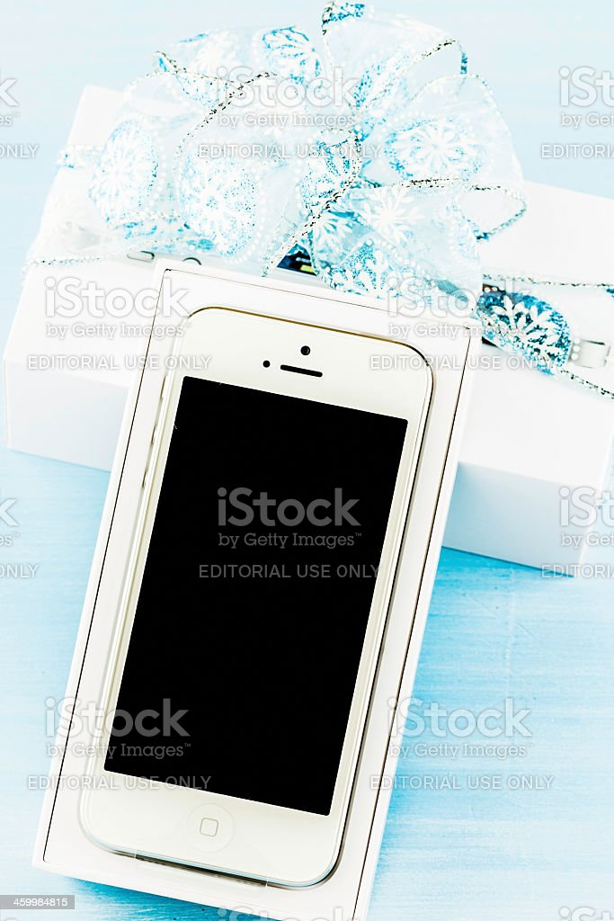 Give the Gift of an iPhone 5 royalty-free stock photo