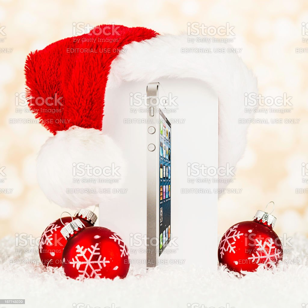 Give the Gift of an iPhone 5 This Christmas royalty-free stock photo
