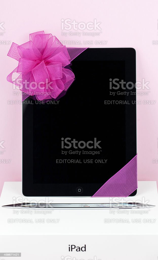 Give the Gift of iPad royalty-free stock photo