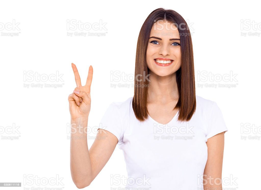 Give to peace a chance. stock photo