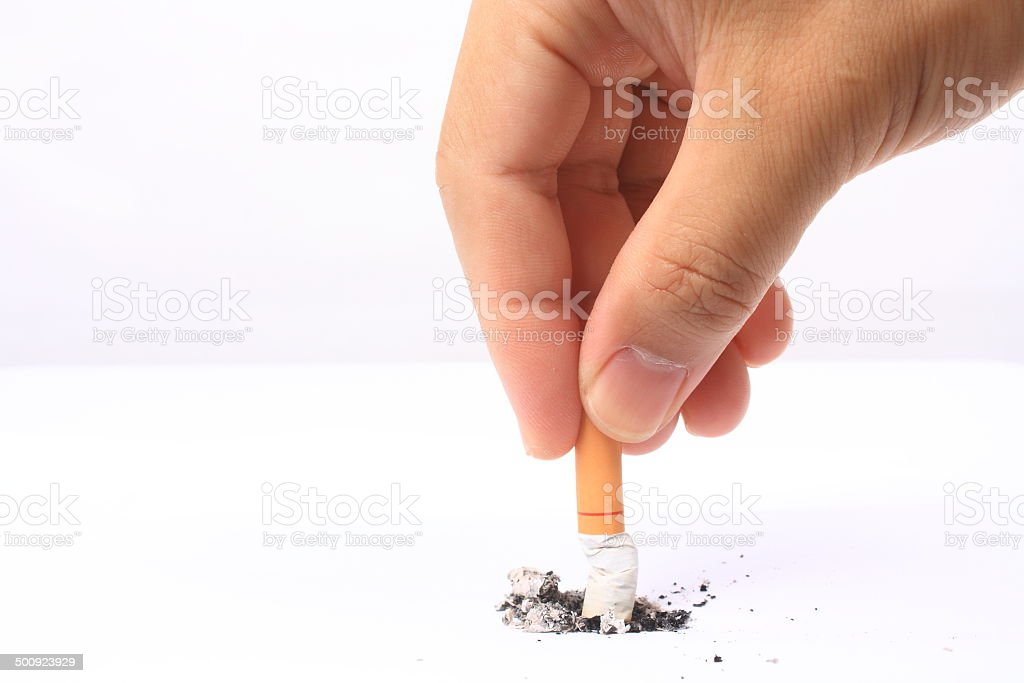 Give up smoking stock photo