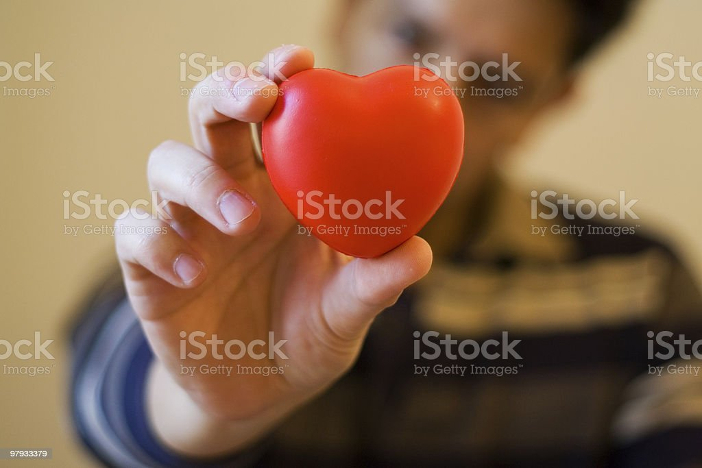 Give you my heart royalty-free stock photo