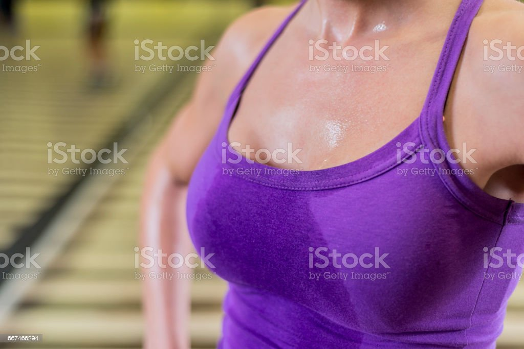 Pictures of sweaty breasts