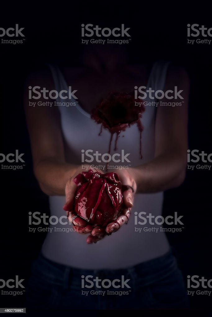 Give your heart away stock photo