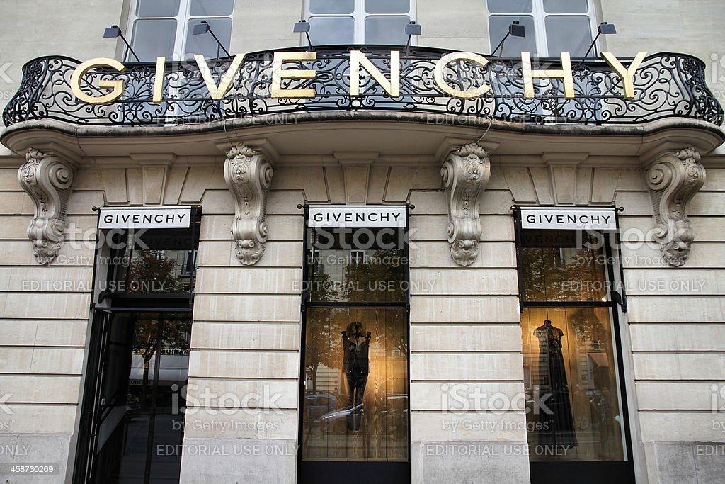 Givenchy - Paris shopping stock photo