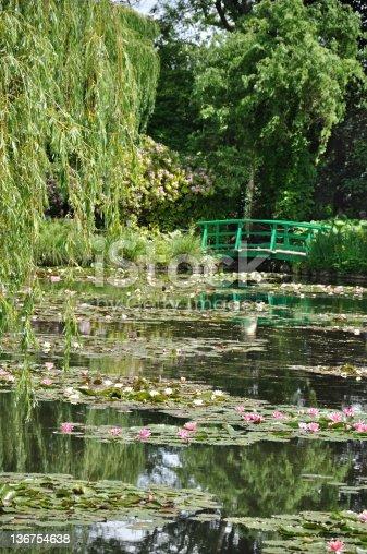 Claude Monet's nenuphar garden in Giverny (Normandy, France).
