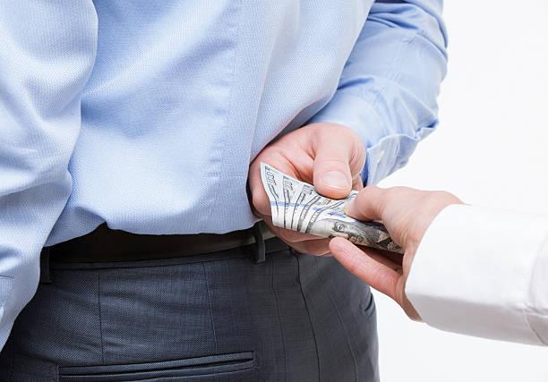 giving a bribe - dirty money bildbanksfoton och bilder