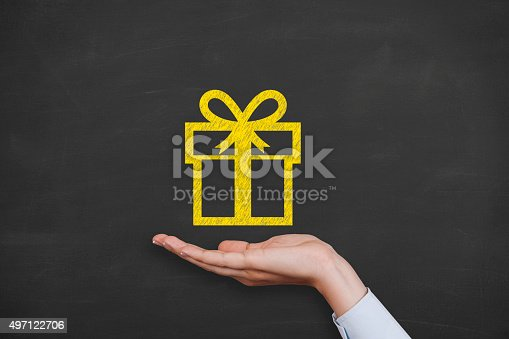 istock Giving a gift 497122706