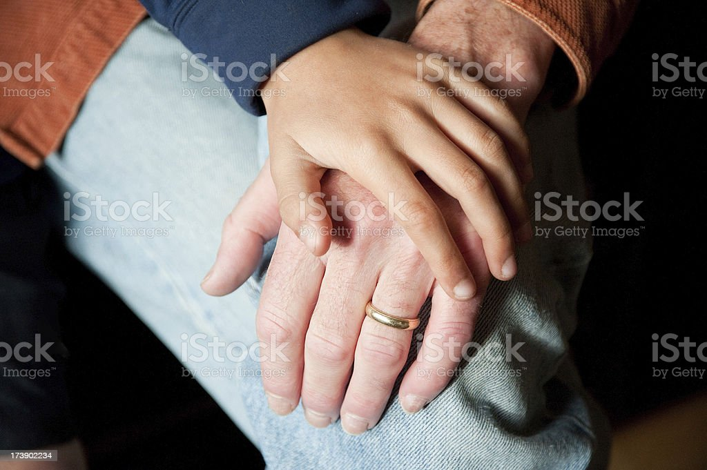 Giving a Hand royalty-free stock photo