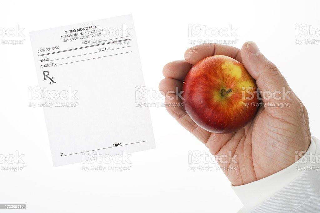 Giving a healthy prescription stock photo