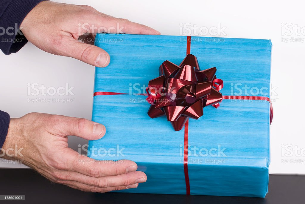 Giving a Present stock photo