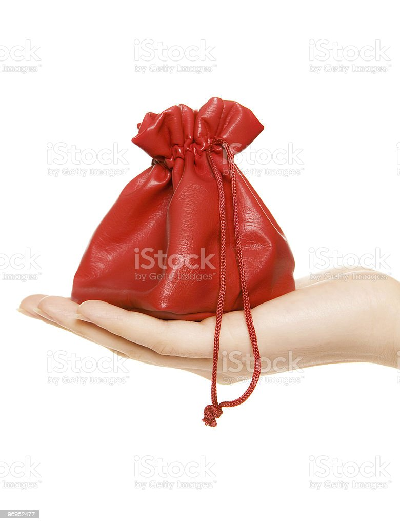 Giving a present royalty-free stock photo