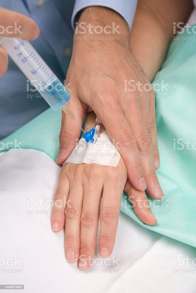Giving an injection stock photo
