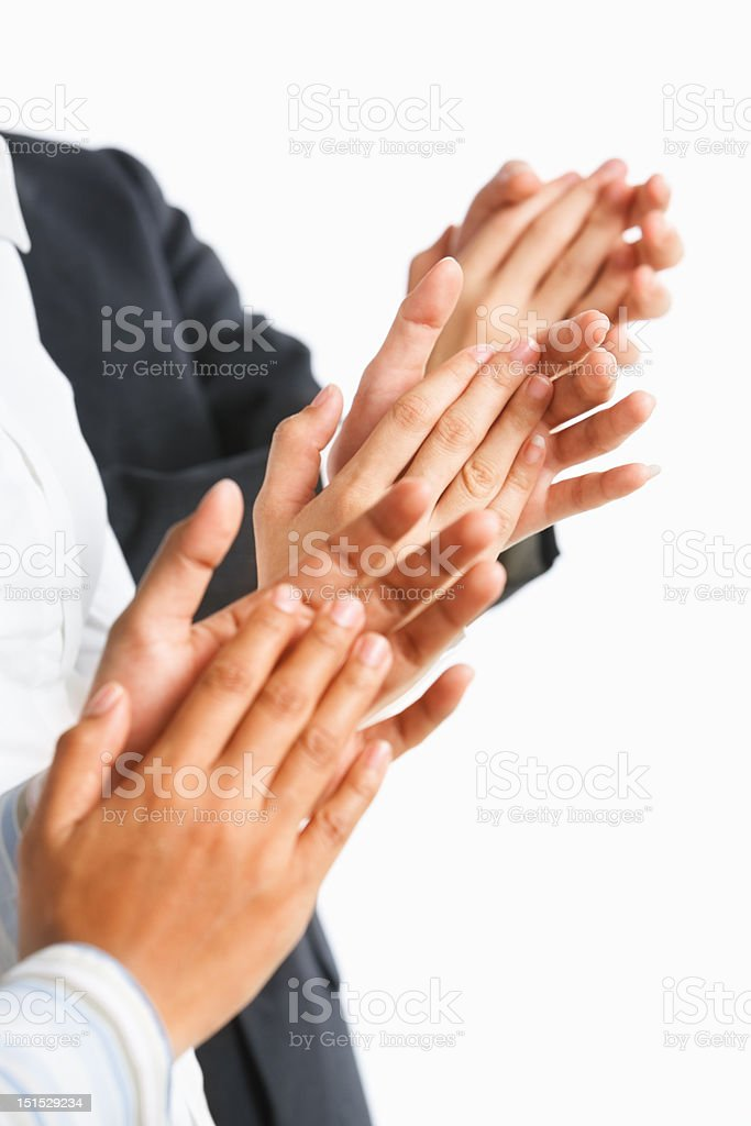 Giving applause royalty-free stock photo